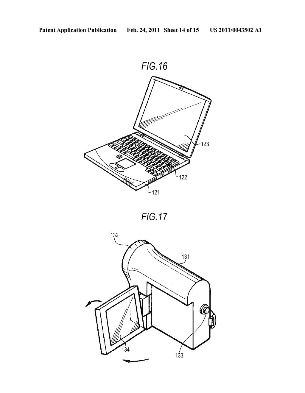 DISPLAY DEVICE AND ELECTRONIC APPARATUS - diagram, schematic, and image 15