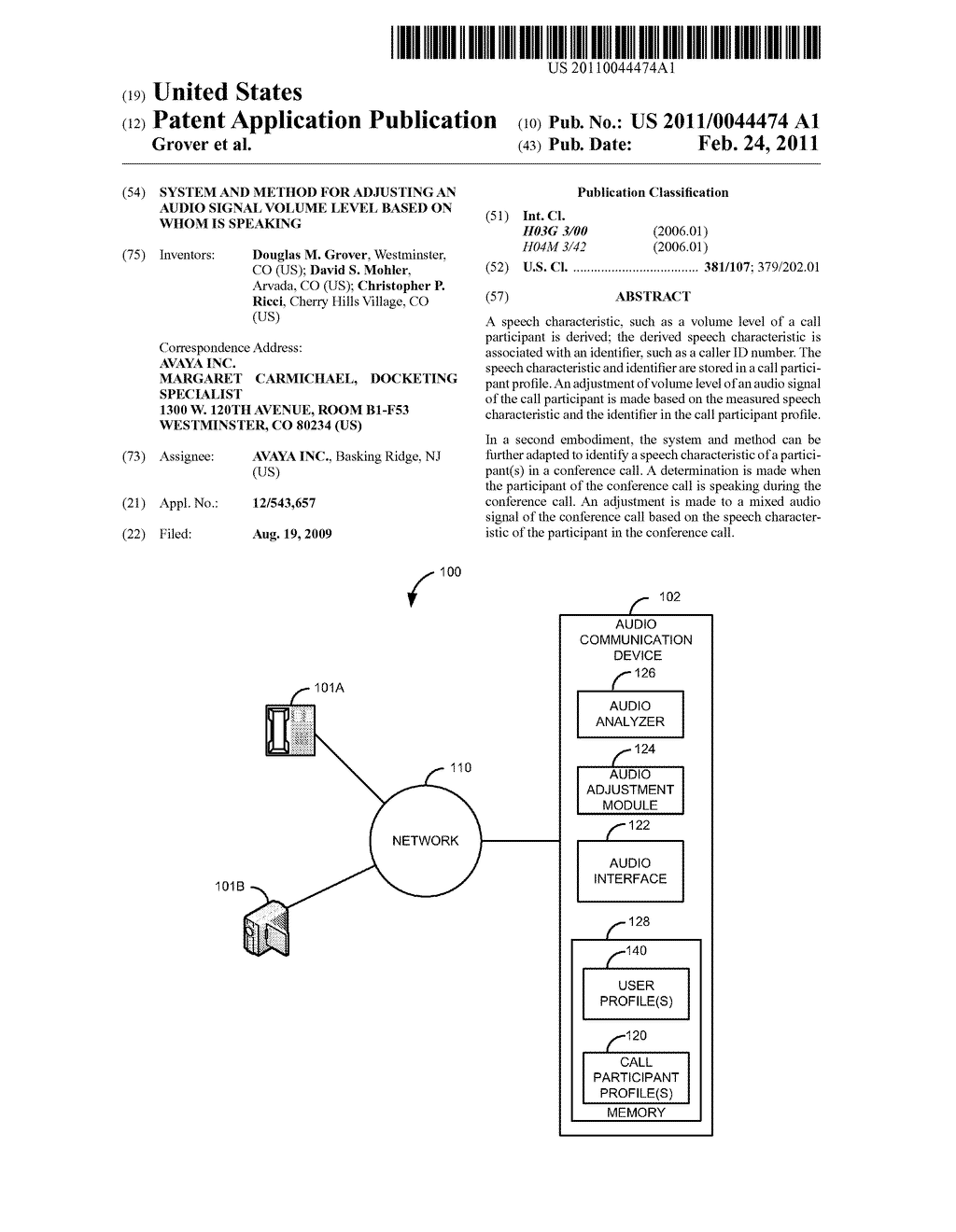 System and Method for Adjusting an Audio Signal Volume Level Based on Whom is Speaking - diagram, schematic, and image 01