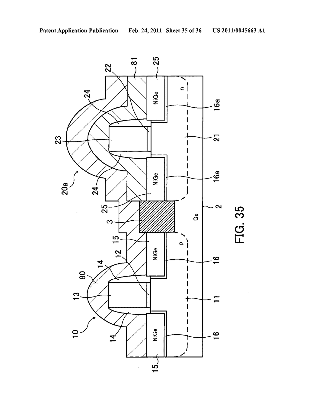 Field-effect transistor and method for fabricating the same - diagram, schematic, and image 36