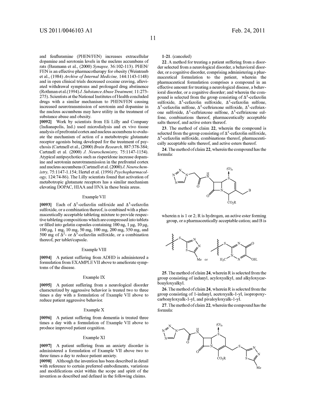 Neurotherapeutic Cephalosporin Sulfoxide and Sulfone-Containing Compositions - diagram, schematic, and image 17