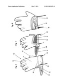 BATTING GLOVE WITH ROLLOVER STRAP diagram and image