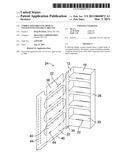 Corrugated Shelving Display System with Two-Piece Shelves diagram and image