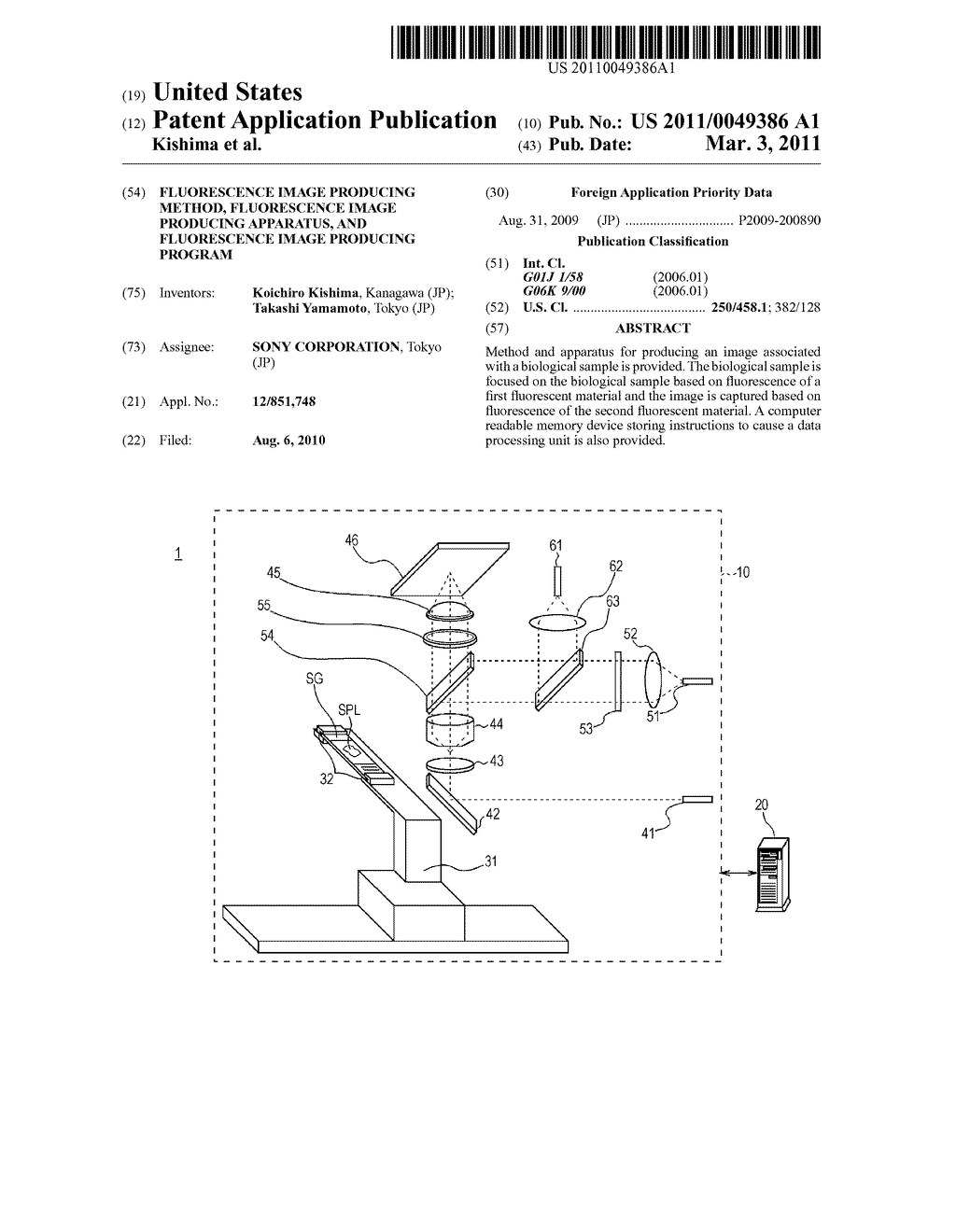 FLUORESCENCE IMAGE PRODUCING METHOD, FLUORESCENCE IMAGE PRODUCING APPARATUS, AND FLUORESCENCE IMAGE PRODUCING PROGRAM - diagram, schematic, and image 01