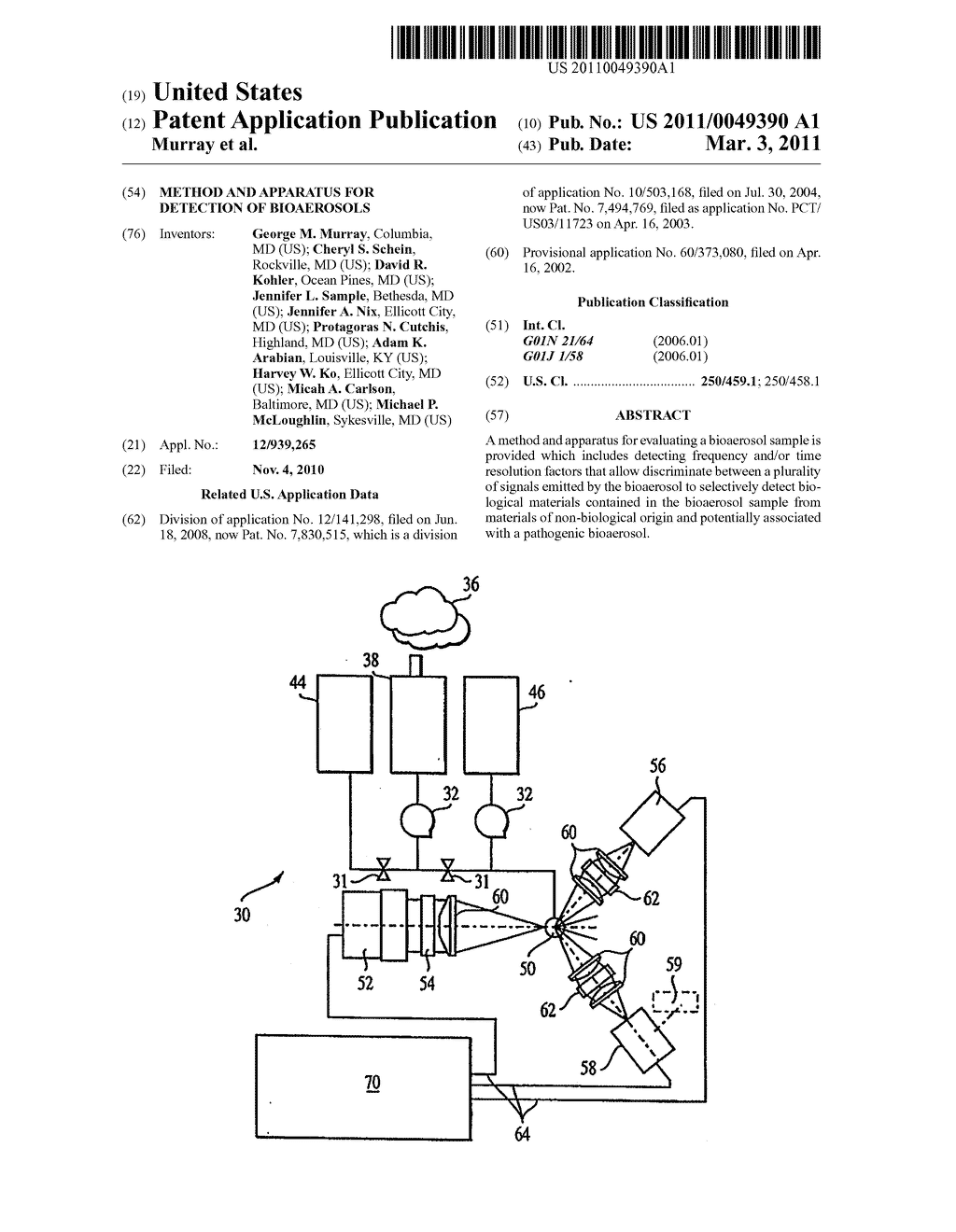 Method and Apparatus for Detection of Bioaerosols - diagram, schematic, and image 01