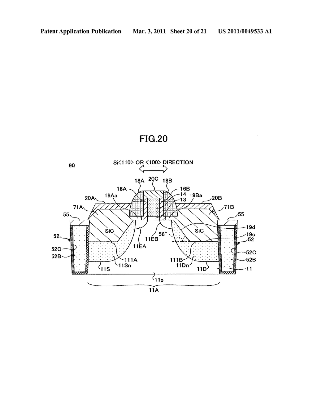 SEMICONDUCTOR DEVICE AND PRODUCTION METHOD THEREOF - diagram, schematic, and image 21
