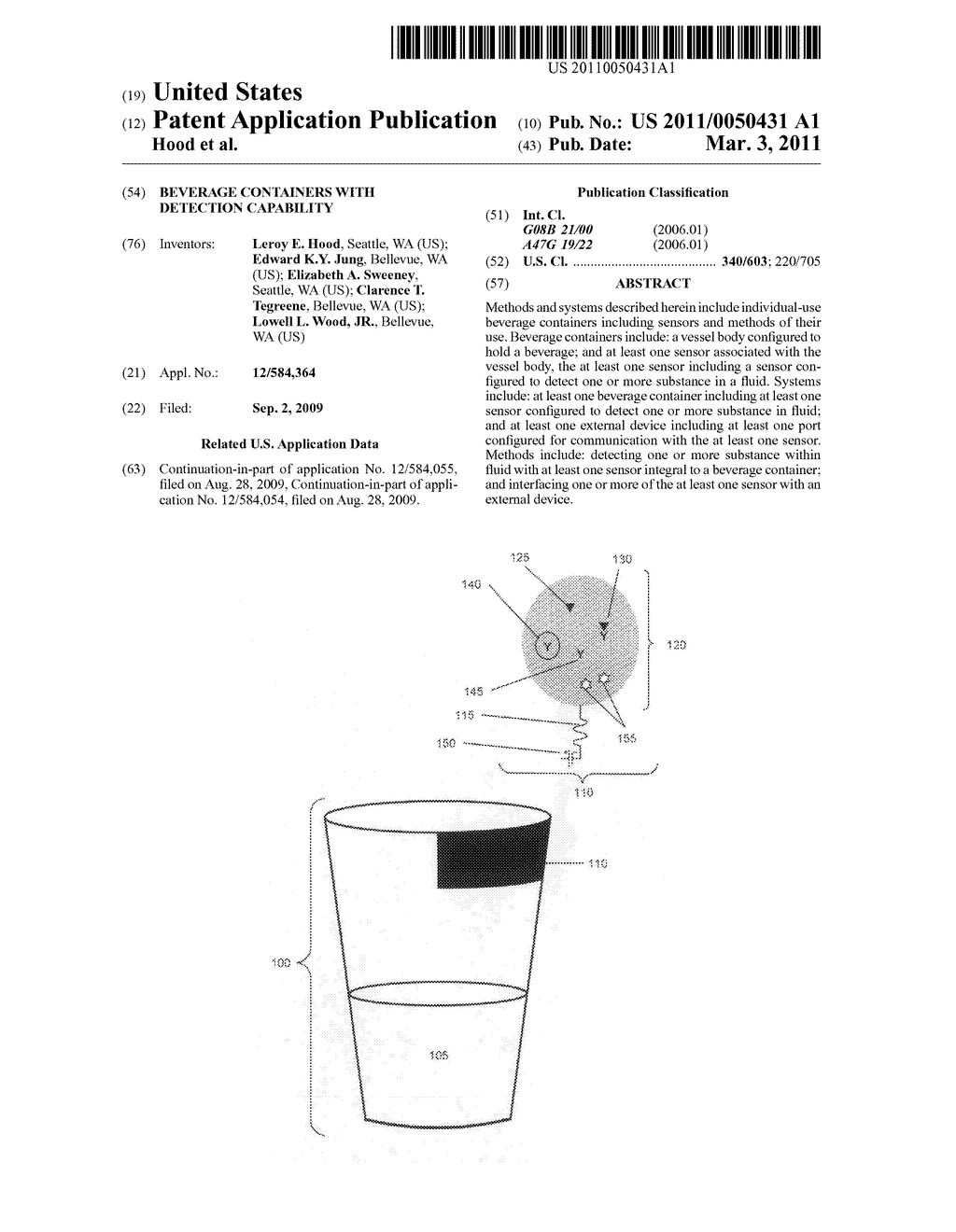 Beverage containers with detection capability - diagram, schematic, and image 01
