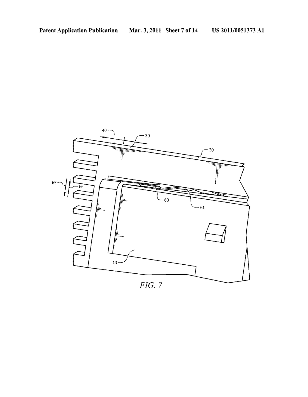 CAGE HAVING A HEAT SINK DEVICE SECURED THERETO IN A FLOATING ARRANGEMENT THAT ENSURES THAT CONTINUOUS CONTACT IS MAINTAINED BETWEEN THE HEAT SINK DEVICE AND A PARALLEL OPTICAL COMMUNICATIONS DEVICE SECURED TO THE CAGE - diagram, schematic, and image 08
