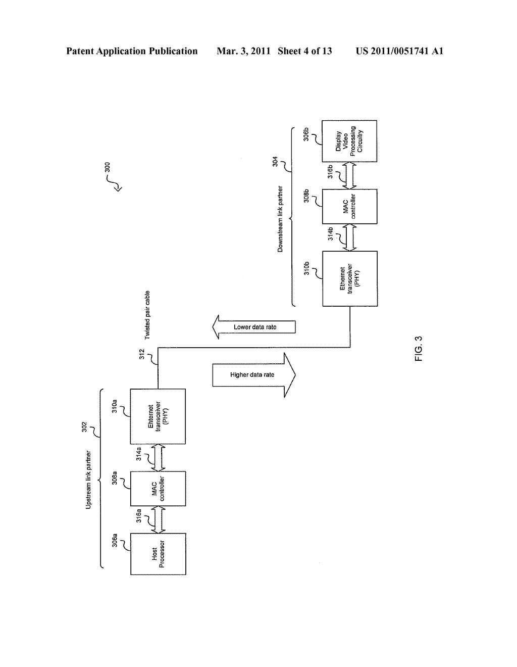METHOD AND SYSTEM FOR AN ASYMMETRIC PHY OPERATION FOR ETHERNET A/V BRIDGING AND ETHERNET A/V BRIDGING EXTENSIONS - diagram, schematic, and image 05