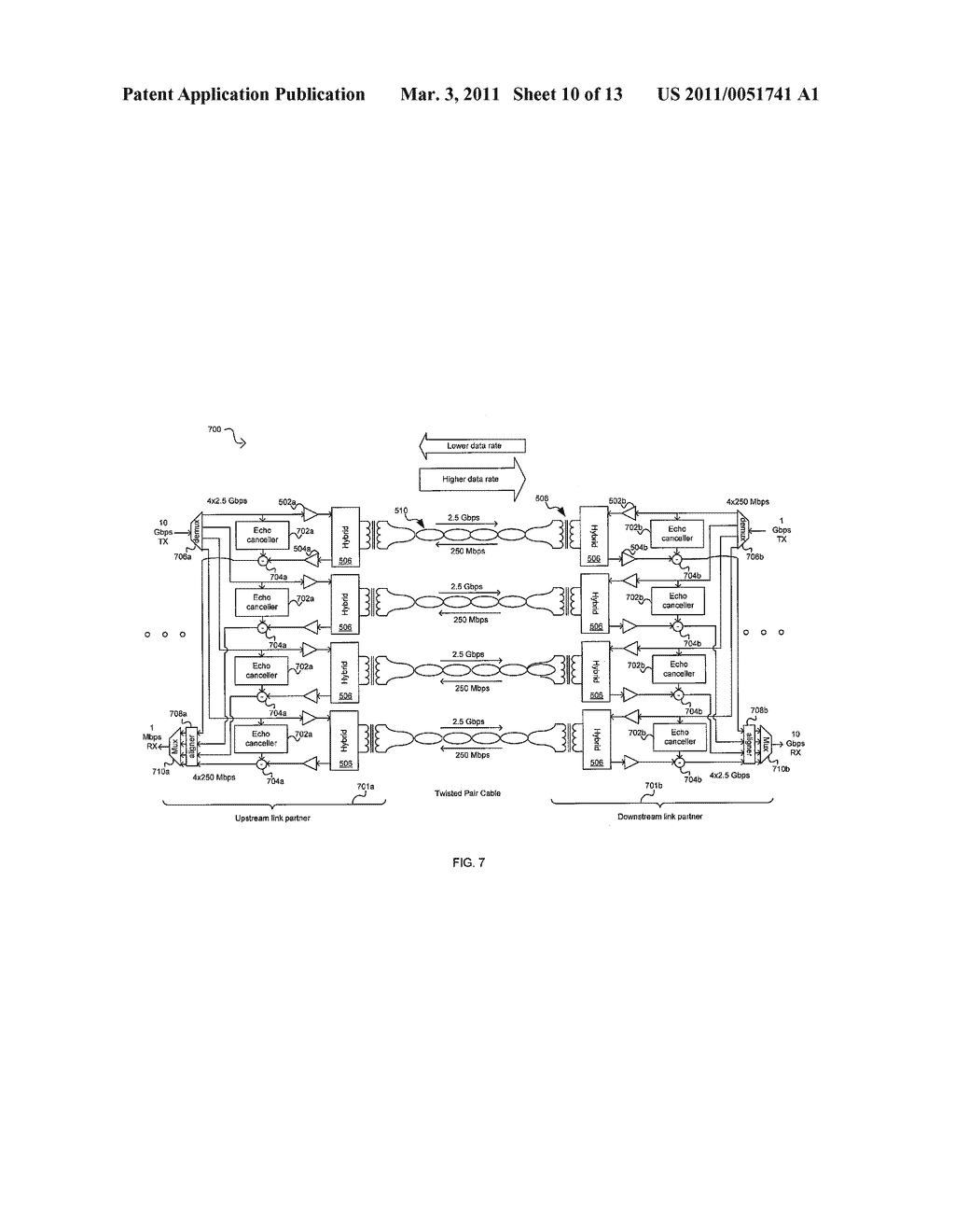 METHOD AND SYSTEM FOR AN ASYMMETRIC PHY OPERATION FOR ETHERNET A/V BRIDGING AND ETHERNET A/V BRIDGING EXTENSIONS - diagram, schematic, and image 11