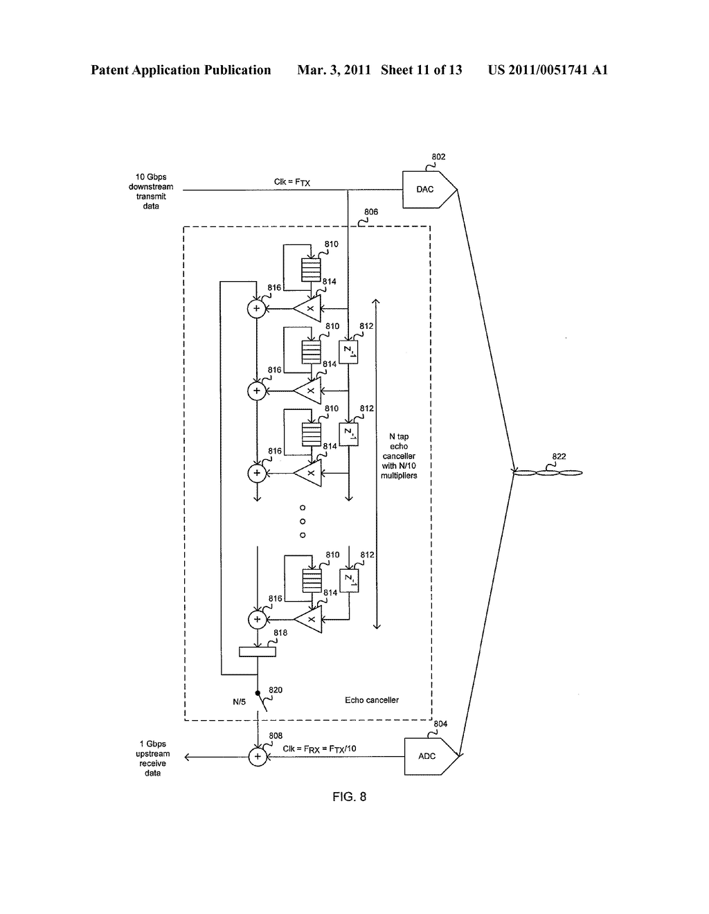 METHOD AND SYSTEM FOR AN ASYMMETRIC PHY OPERATION FOR ETHERNET A/V BRIDGING AND ETHERNET A/V BRIDGING EXTENSIONS - diagram, schematic, and image 12