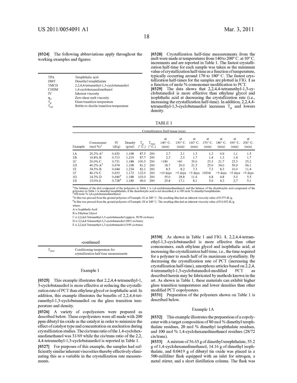 FILM(S) AND/OR SHEET(S) COMPRISING POLYESTER COMPOSITIONS WHICH COMPRISE CYCLOBUTANEDIOL AND HAVE A CERTAIN COMBINATION OF INHERENT VISCOSITY AND MODERATE GLASS TRANSITION TEMPERATURE - diagram, schematic, and image 22