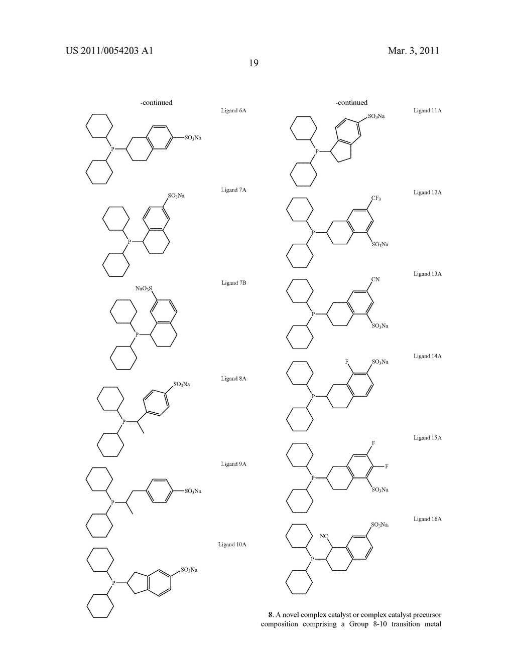 SULFONATED ORGANOPHOSPHINE COMPOUNDS AND USE IN HYDROFORMYLATION PROCESSES - diagram, schematic, and image 23