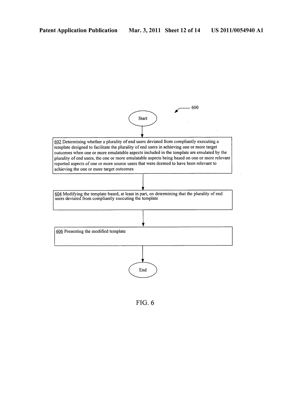 Template modification based on deviation from compliant execution of the template - diagram, schematic, and image 13