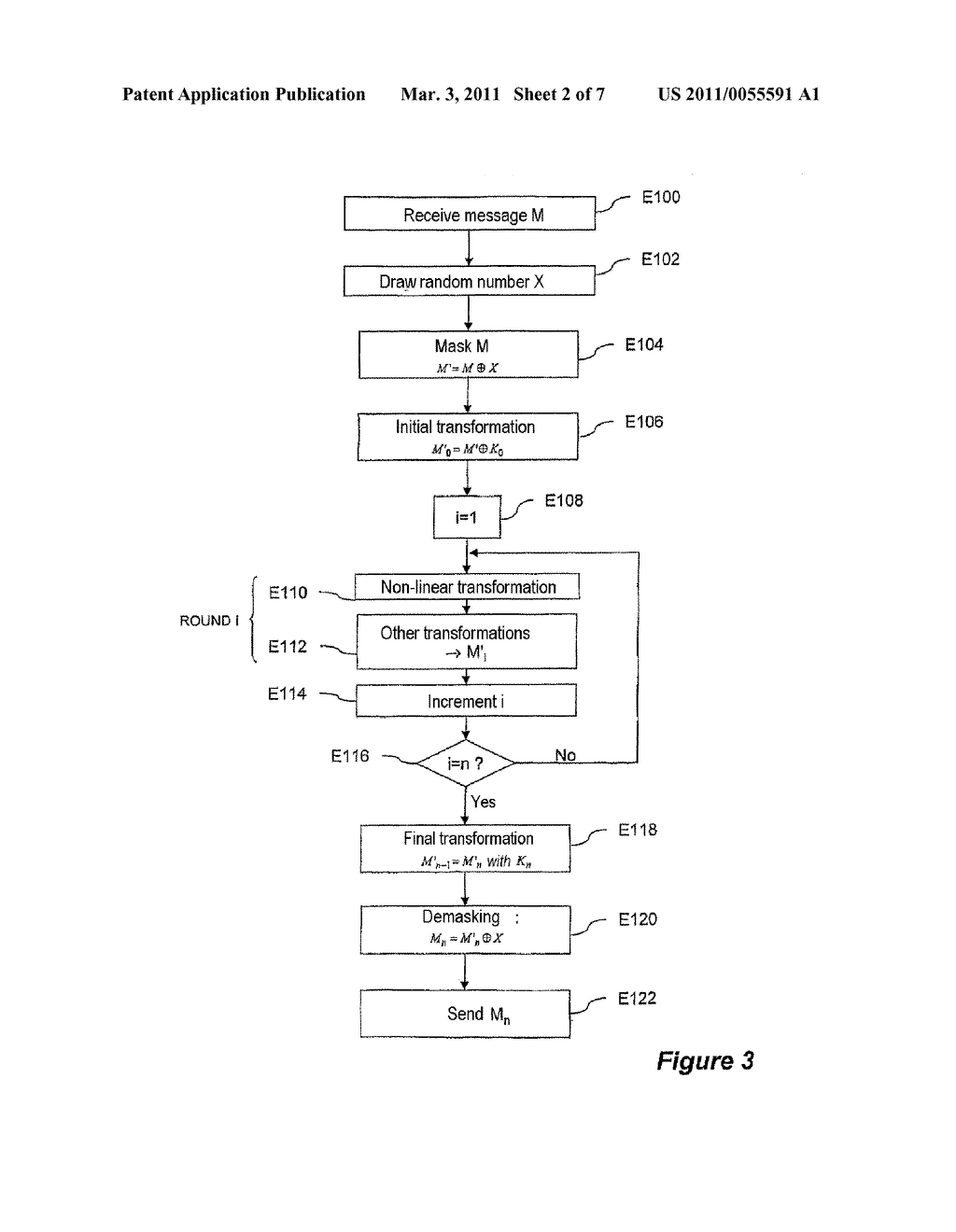 METHOD FOR CRYPTOGRAPHIC DATA PROCESSING, PARTICULARLY USING AN S BOX, AND RELATED DEVICE AND SOFTWARE - diagram, schematic, and image 03
