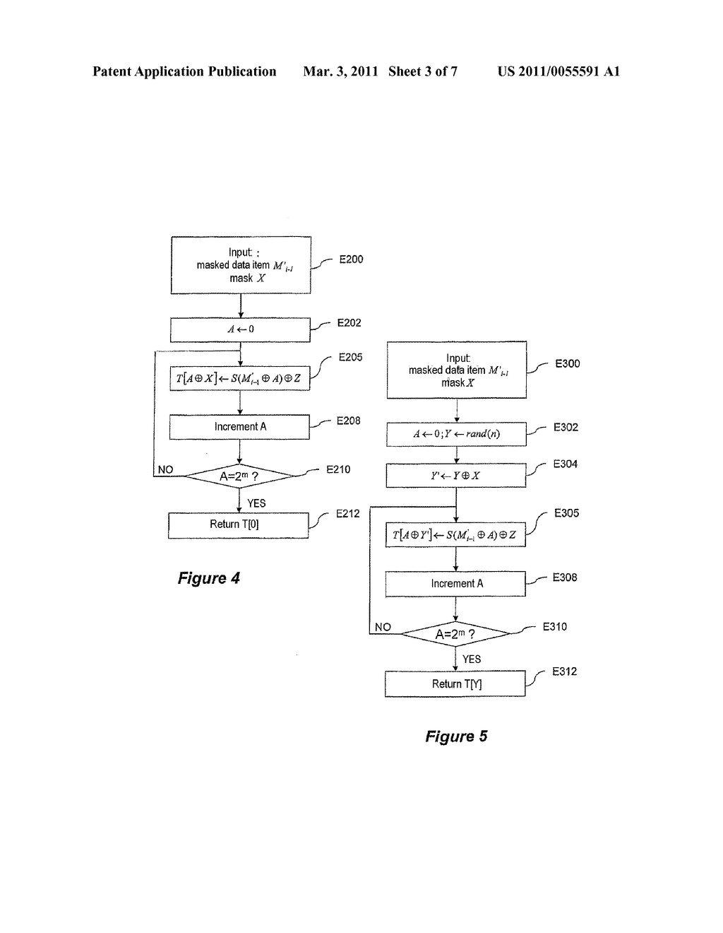 METHOD FOR CRYPTOGRAPHIC DATA PROCESSING, PARTICULARLY USING AN S BOX, AND RELATED DEVICE AND SOFTWARE - diagram, schematic, and image 04
