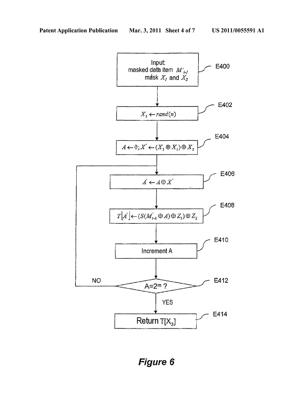METHOD FOR CRYPTOGRAPHIC DATA PROCESSING, PARTICULARLY USING AN S BOX, AND RELATED DEVICE AND SOFTWARE - diagram, schematic, and image 05