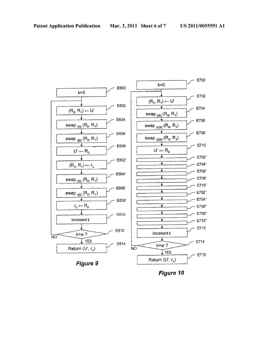 METHOD FOR CRYPTOGRAPHIC DATA PROCESSING, PARTICULARLY USING AN S BOX, AND RELATED DEVICE AND SOFTWARE - diagram, schematic, and image 07
