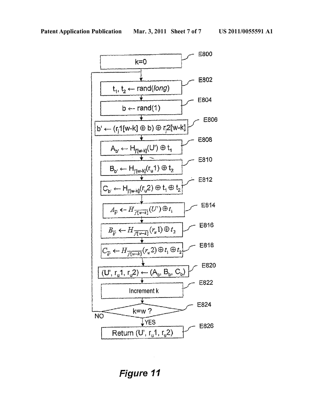 METHOD FOR CRYPTOGRAPHIC DATA PROCESSING, PARTICULARLY USING AN S BOX, AND RELATED DEVICE AND SOFTWARE - diagram, schematic, and image 08
