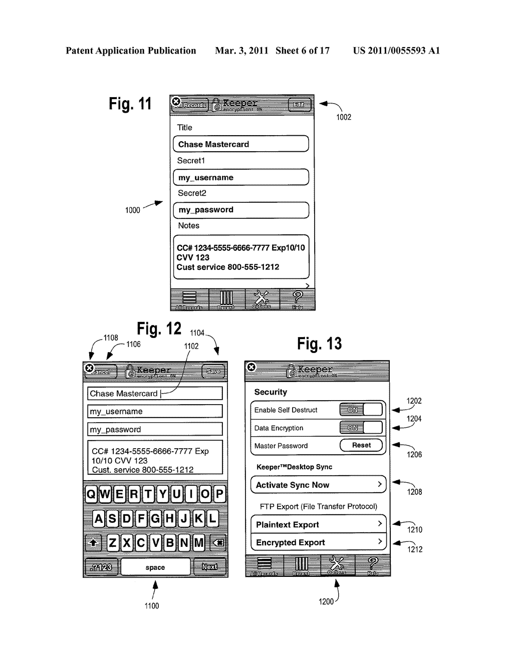METHOD AND APPARATUS FOR PROTECTING ACCOUNT NUMBERS AND PASSWORDS - diagram, schematic, and image 07