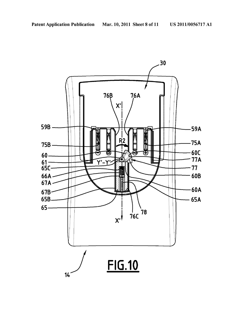SELF-CONTAINED PORTABLE ELECTRICAL APPLIANCE WITH LOCK-ON ELECTRIC POWER PACK - diagram, schematic, and image 09