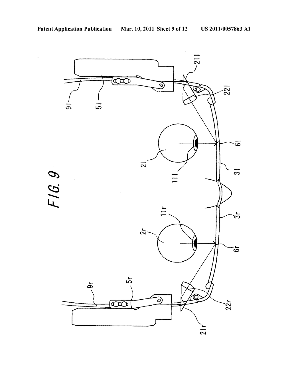 Spectacles-type image display device - diagram, schematic, and image 10