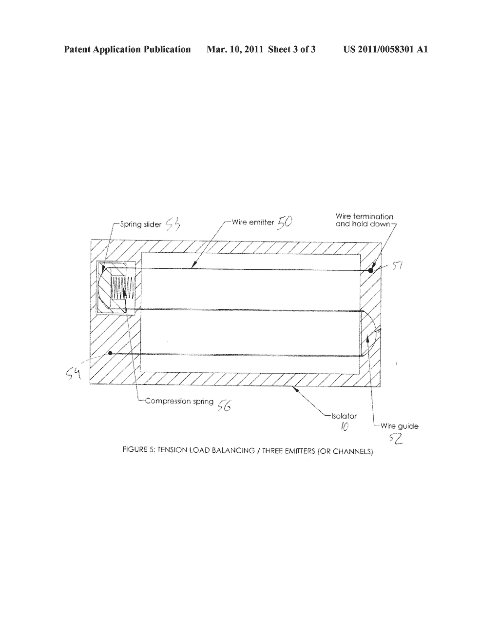 COMPRESSION SPRING-TENSIONED EMITTER ELECTRODES FOR ION WIND FAN - diagram, schematic, and image 04