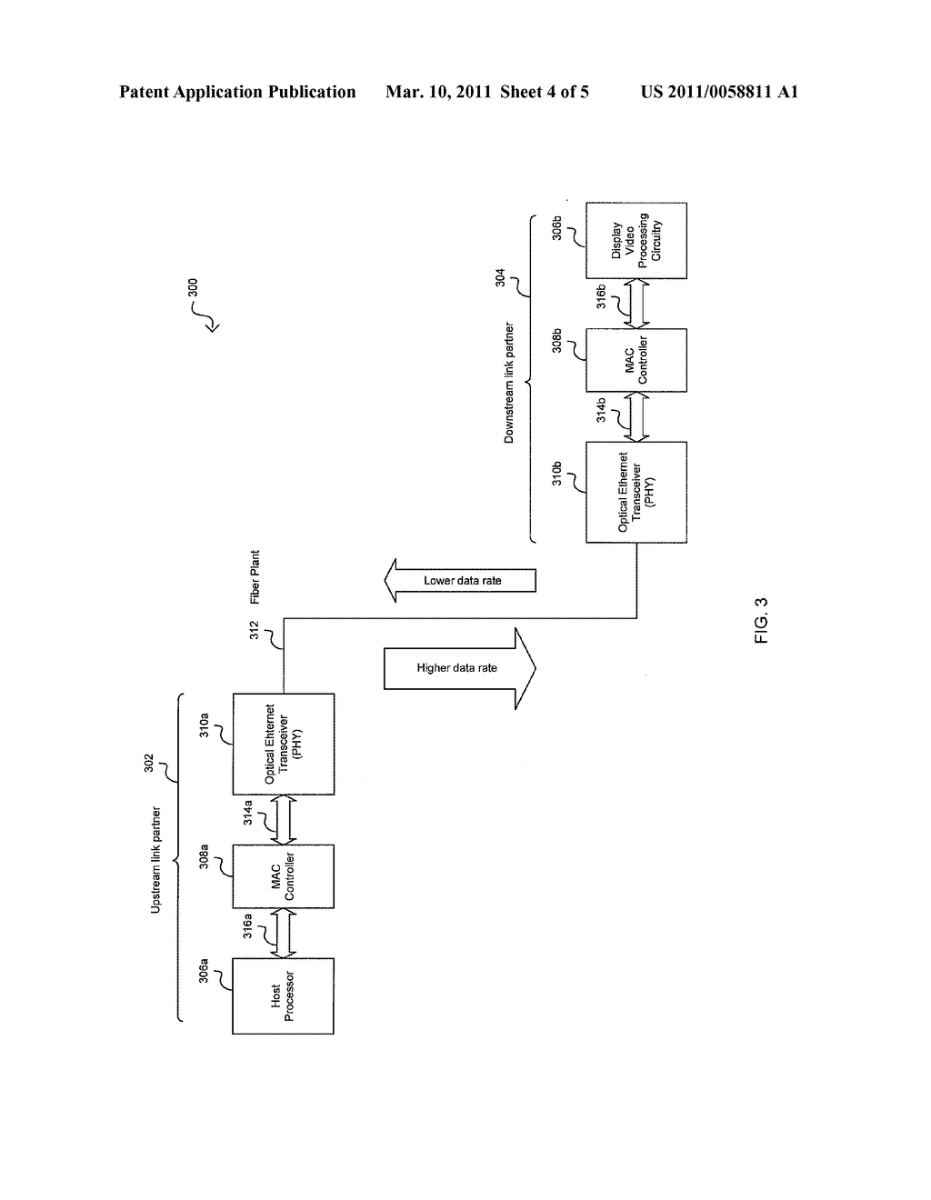 Method And System For An Asymmetric Optical Phy Operation For Ethernet A/V Bridging And Ethernet A/V Bridging Extensions - diagram, schematic, and image 05