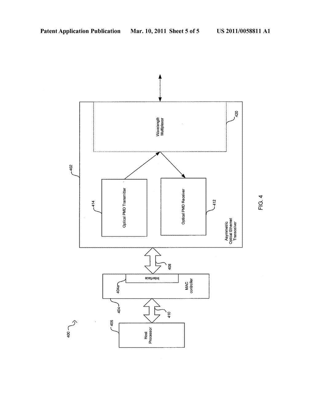 Method And System For An Asymmetric Optical Phy Operation For Ethernet A/V Bridging And Ethernet A/V Bridging Extensions - diagram, schematic, and image 06