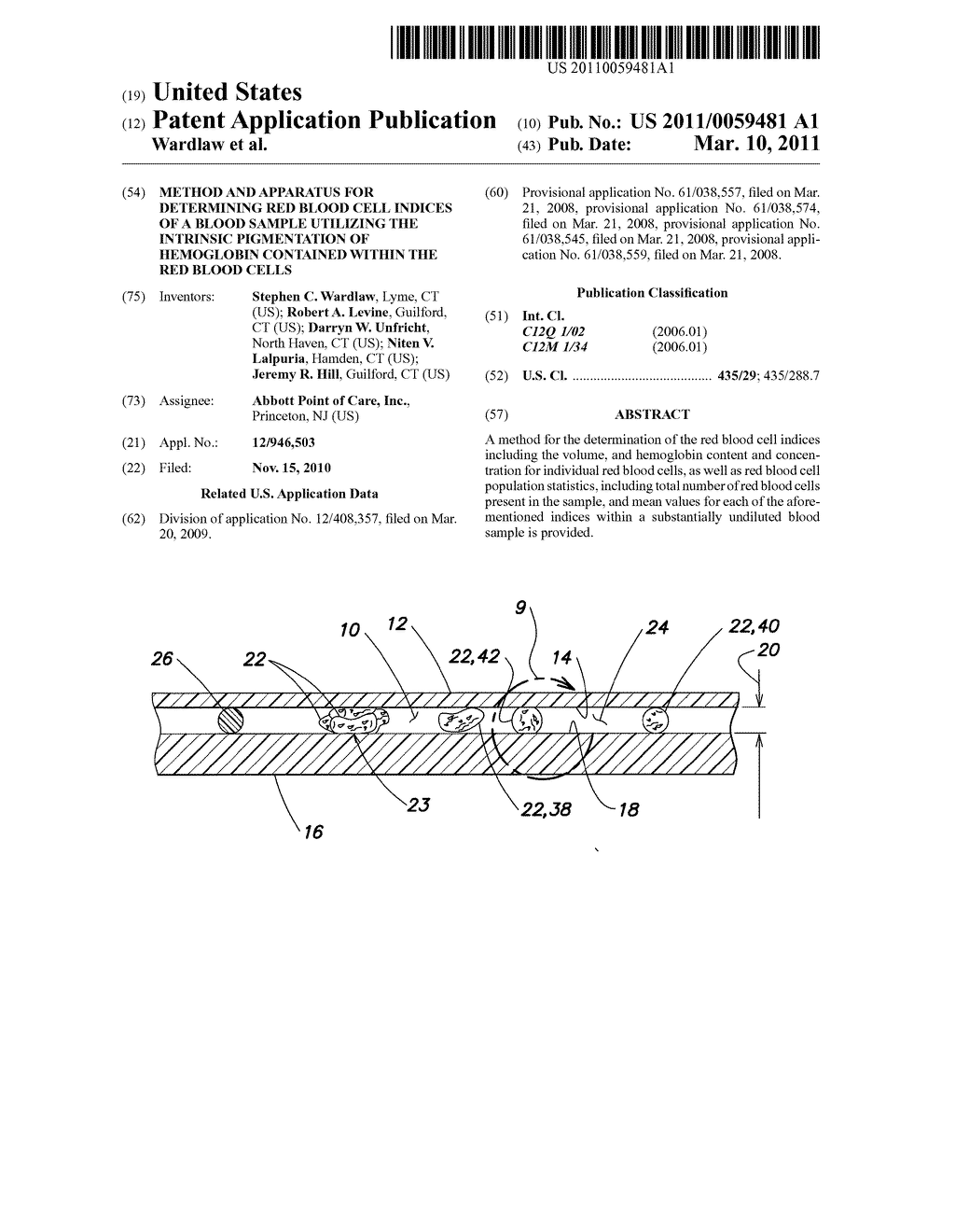 Method And Apparatus For Determining Red Blood Cell Indices Of A White Cells Diagram Sample Utilizing The Intrinsic Pigmentation Hemoglobin Contained Within