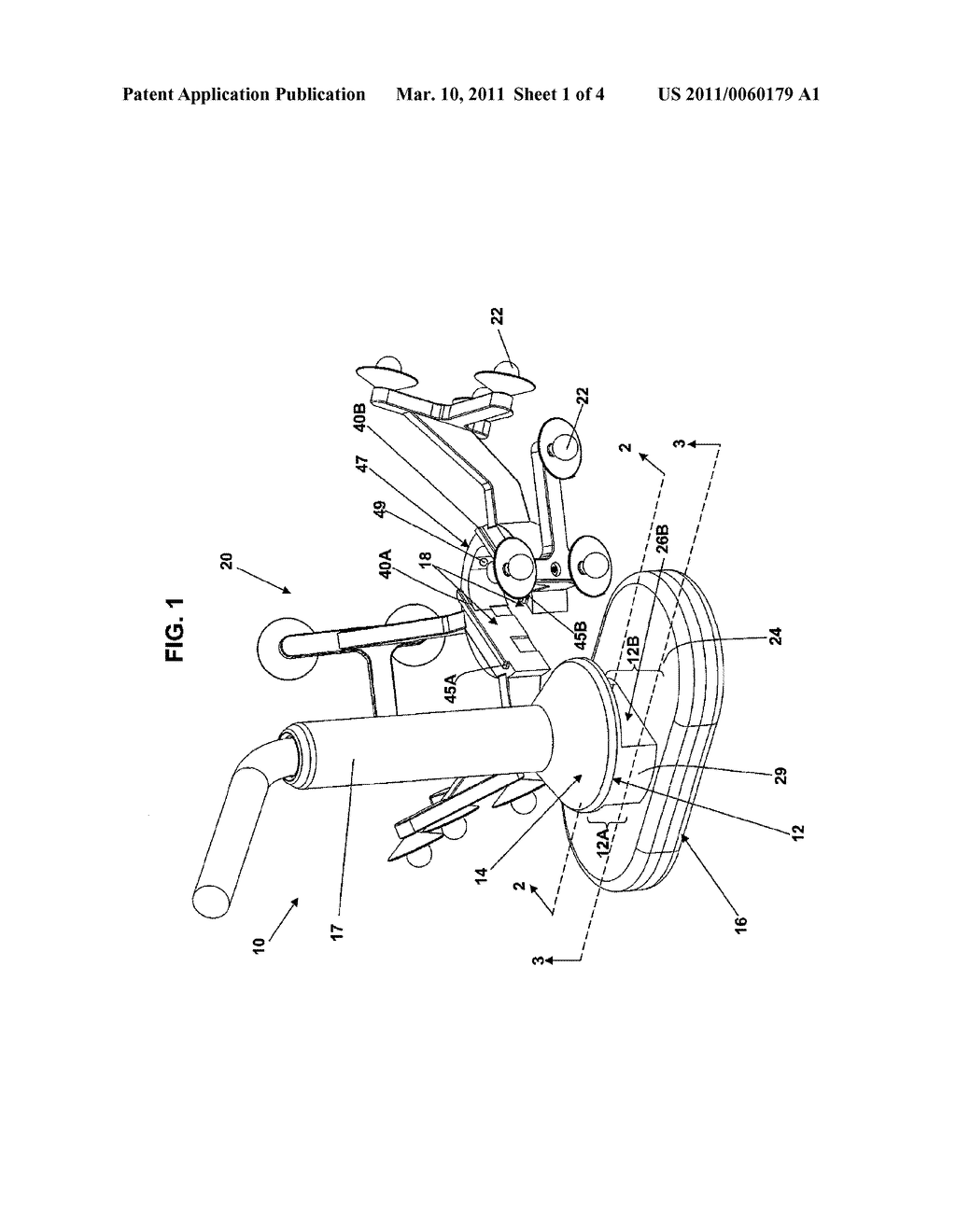 Transcranial magnetic stimulation induction coil device with attachment portion for receiving tracking device - diagram, schematic, and image 02