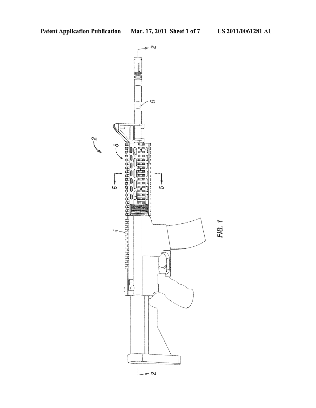 FIREARM HAND GUARD RAIL SYSTEM - diagram, schematic, and image 02