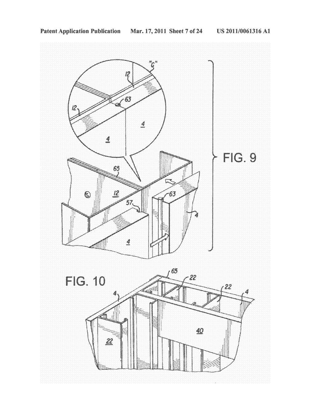 NON-COMBUSTIBLE REINFORCED CEMENTITIOUS LIGHTWEIGHT PANELS AND METAL FRAME SYSTEM FOR BUILDING FOUNDATIONS - diagram, schematic, and image 08