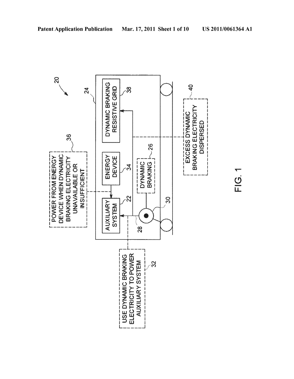 METHOD AND SYSTEM FOR UTILIZATION OF REGENERATIVE BRAKING ELECTRICAL ENERGY FOR OPERATING AUXILIARY SYSTEM IN AN OFF-HIGHWAY VEHICLE - diagram, schematic, and image 02