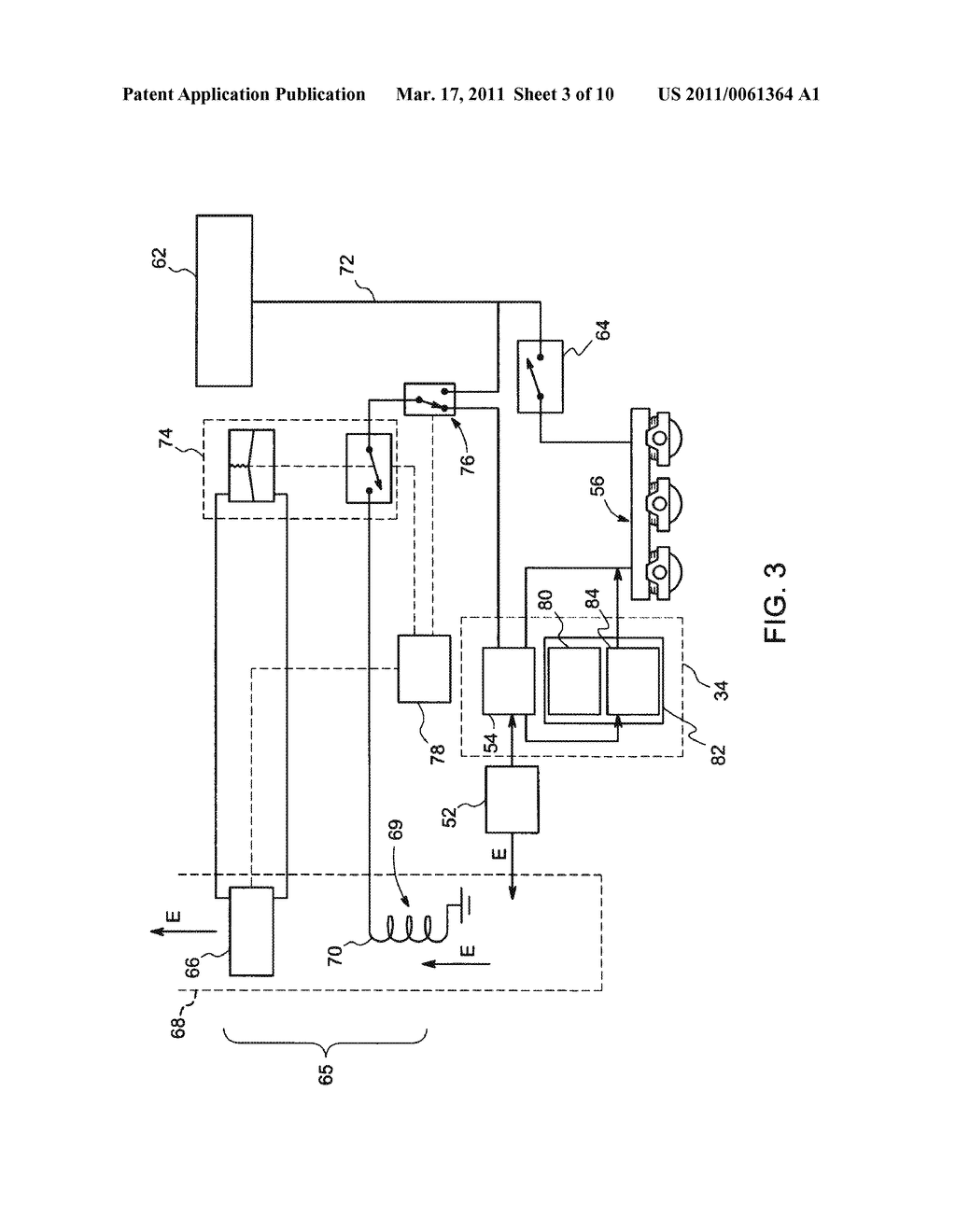 METHOD AND SYSTEM FOR UTILIZATION OF REGENERATIVE BRAKING ELECTRICAL ENERGY FOR OPERATING AUXILIARY SYSTEM IN AN OFF-HIGHWAY VEHICLE - diagram, schematic, and image 04