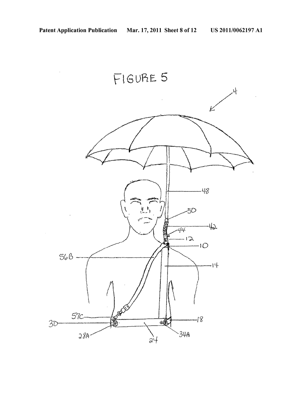 HARNESS WITH ATTACHABLE UMBRELLA - diagram, schematic, and image 09
