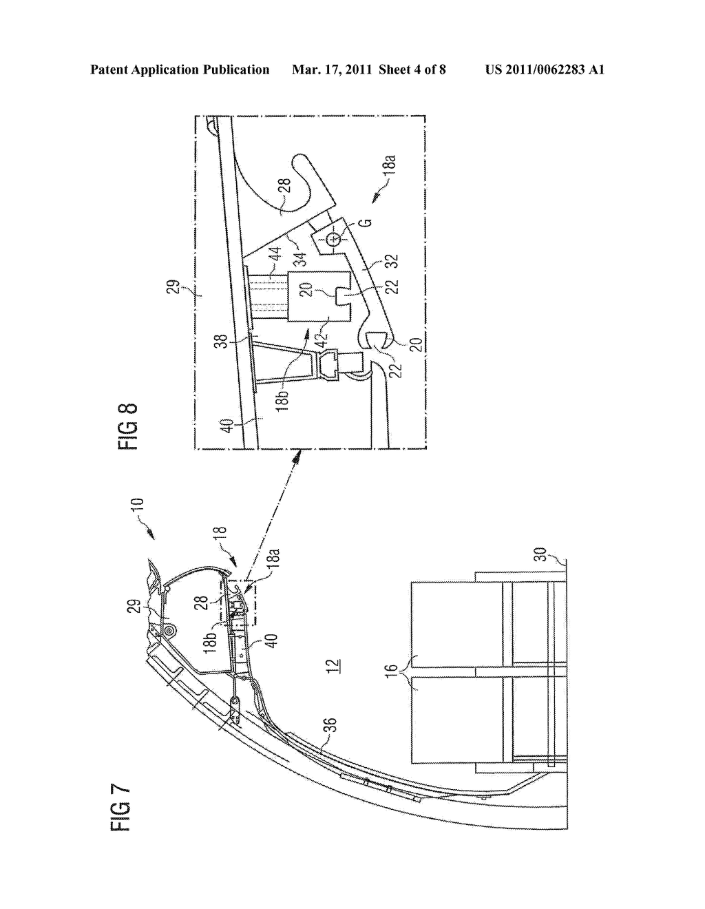 DEVICE FOR DELIMITING A CREW REST COMPARTMENT AND METHOD FOR IMPLEMENTING SUCH A DEVICE - diagram, schematic, and image 05