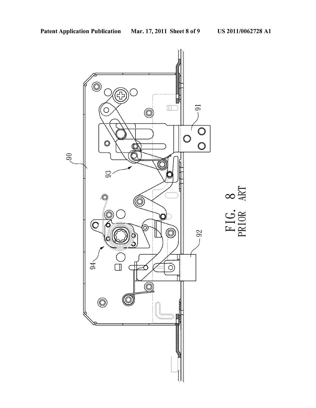 door lock transmission structure diagram schematic and image : door lock diagram - findchart.co
