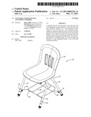 STACKABLE CHAIR WITH RACK ATTACHMENT MEMBERS diagram and image