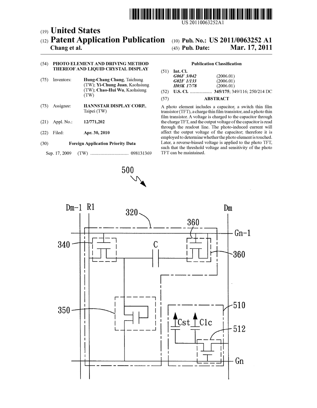 Photo Element and Driving Method Thereof and Liquid Crystal Display - diagram, schematic, and image 01