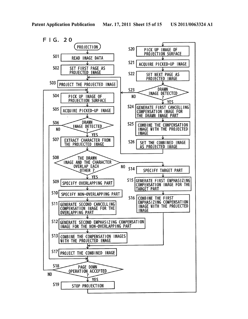 IMAGE PROJECTION SYSTEM, IMAGE PROJECTION METHOD, AND IMAGE PROJECTION PROGRAM EMBODIED ON COMPUTER READABLE MEDIUM - diagram, schematic, and image 16