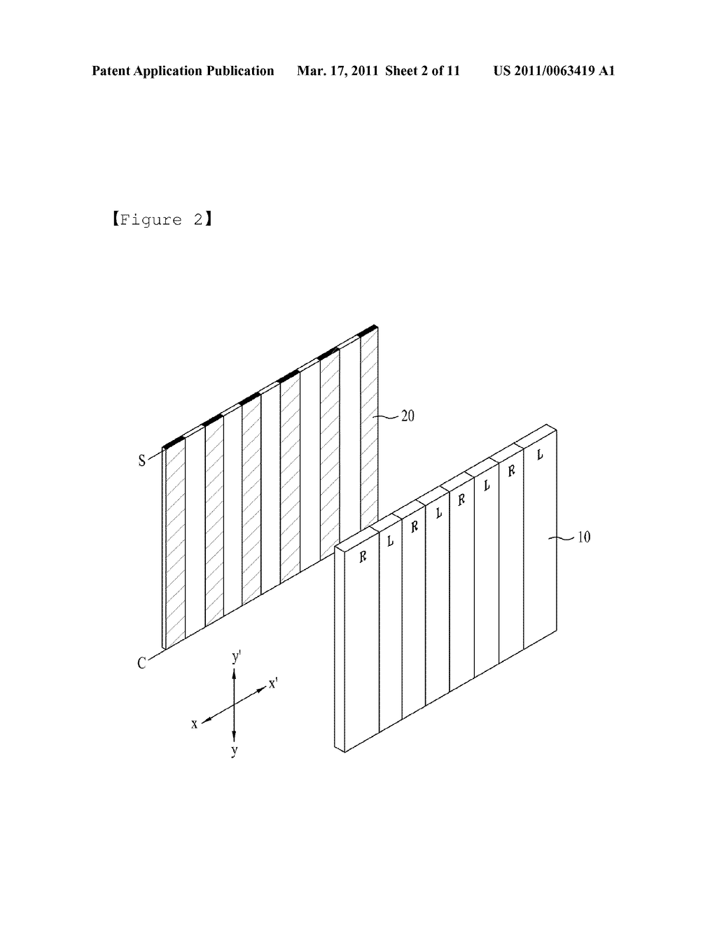 STEREOSCOPIC IMAGE GENERATING CHIP FOR MOBILE DEVICE AND STEREOSCOPIC IMAGE DISPLAY METHOD USING THE SAME - diagram, schematic, and image 03