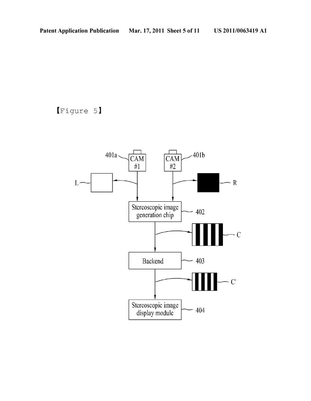 STEREOSCOPIC IMAGE GENERATING CHIP FOR MOBILE DEVICE AND STEREOSCOPIC IMAGE DISPLAY METHOD USING THE SAME - diagram, schematic, and image 06