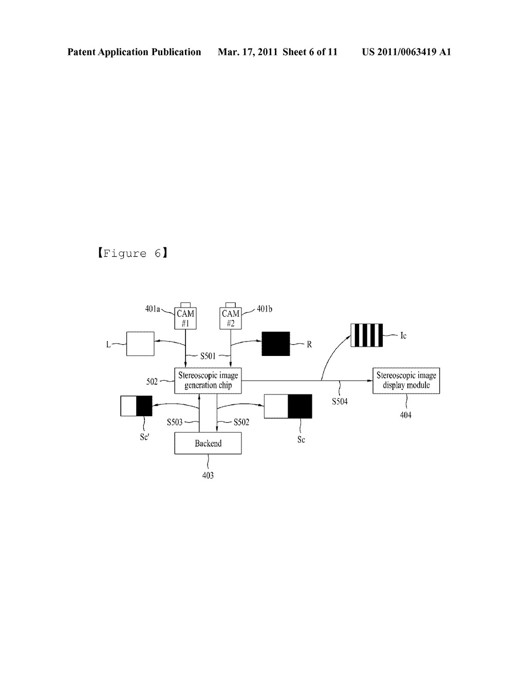 STEREOSCOPIC IMAGE GENERATING CHIP FOR MOBILE DEVICE AND STEREOSCOPIC IMAGE DISPLAY METHOD USING THE SAME - diagram, schematic, and image 07