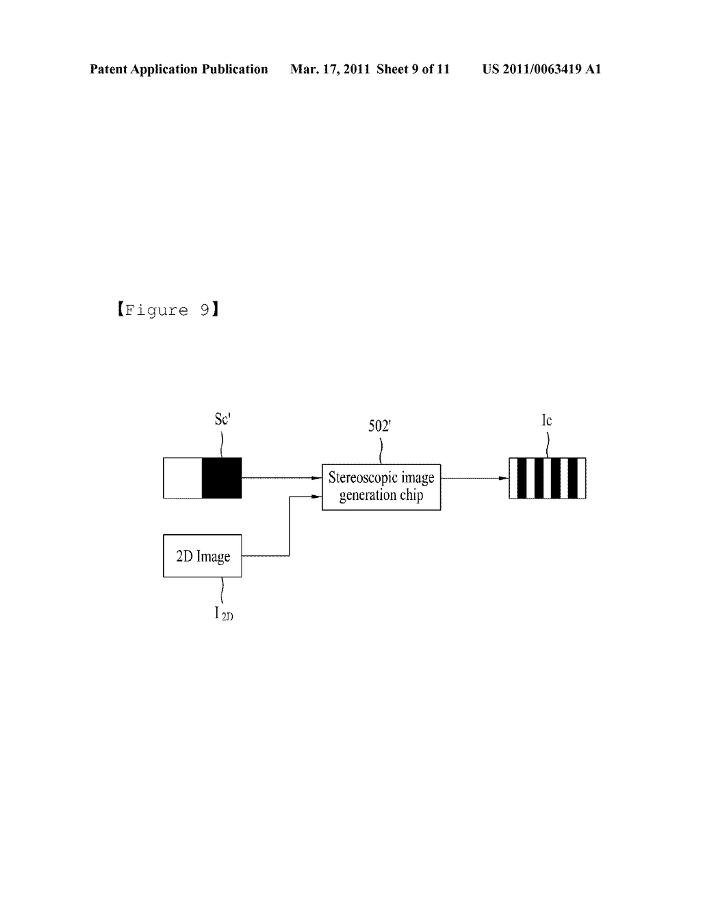 STEREOSCOPIC IMAGE GENERATING CHIP FOR MOBILE DEVICE AND STEREOSCOPIC IMAGE DISPLAY METHOD USING THE SAME - diagram, schematic, and image 10