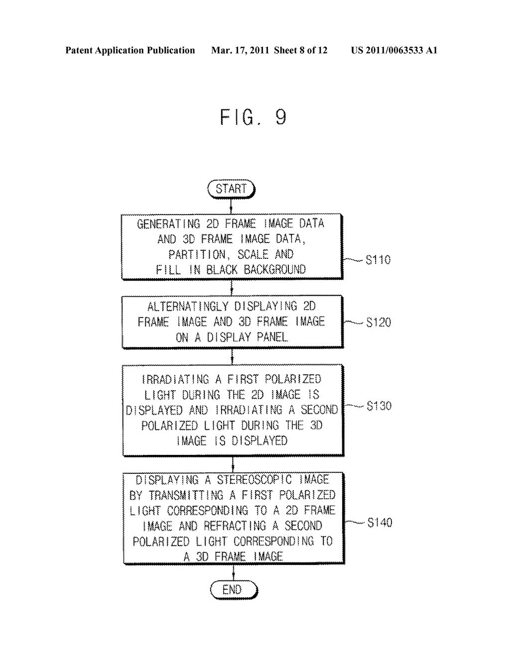 METHOD OF DISPLAYING STEREOSCOPIC IMAGES MIXED WITH MONOSCOPIC IMAGES AND MONO/STEREOSCOPIC IMAGE DISPLAY APPARATUS CAPABLE OF PERFORMING THE METHOD - diagram, schematic, and image 09