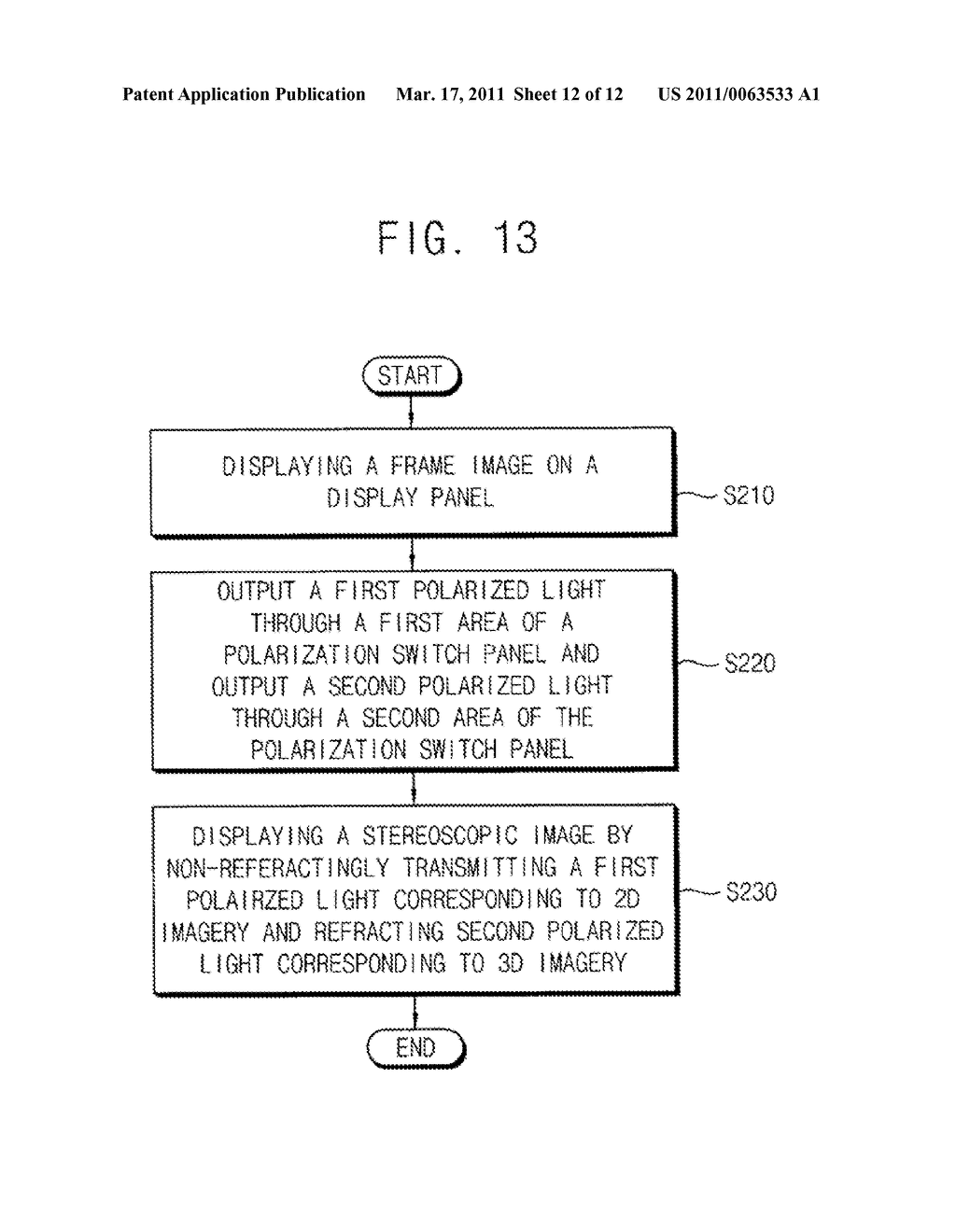 METHOD OF DISPLAYING STEREOSCOPIC IMAGES MIXED WITH MONOSCOPIC IMAGES AND MONO/STEREOSCOPIC IMAGE DISPLAY APPARATUS CAPABLE OF PERFORMING THE METHOD - diagram, schematic, and image 13