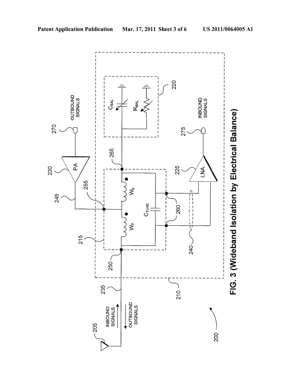 RF Front-End with Wideband Transmitter/Receiver Isolation - diagram, schematic, and image 04