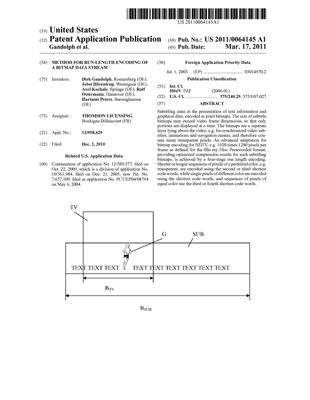 Method for Run-Length Encoding of a Bitmap Data Stream - diagram, schematic, and image 01