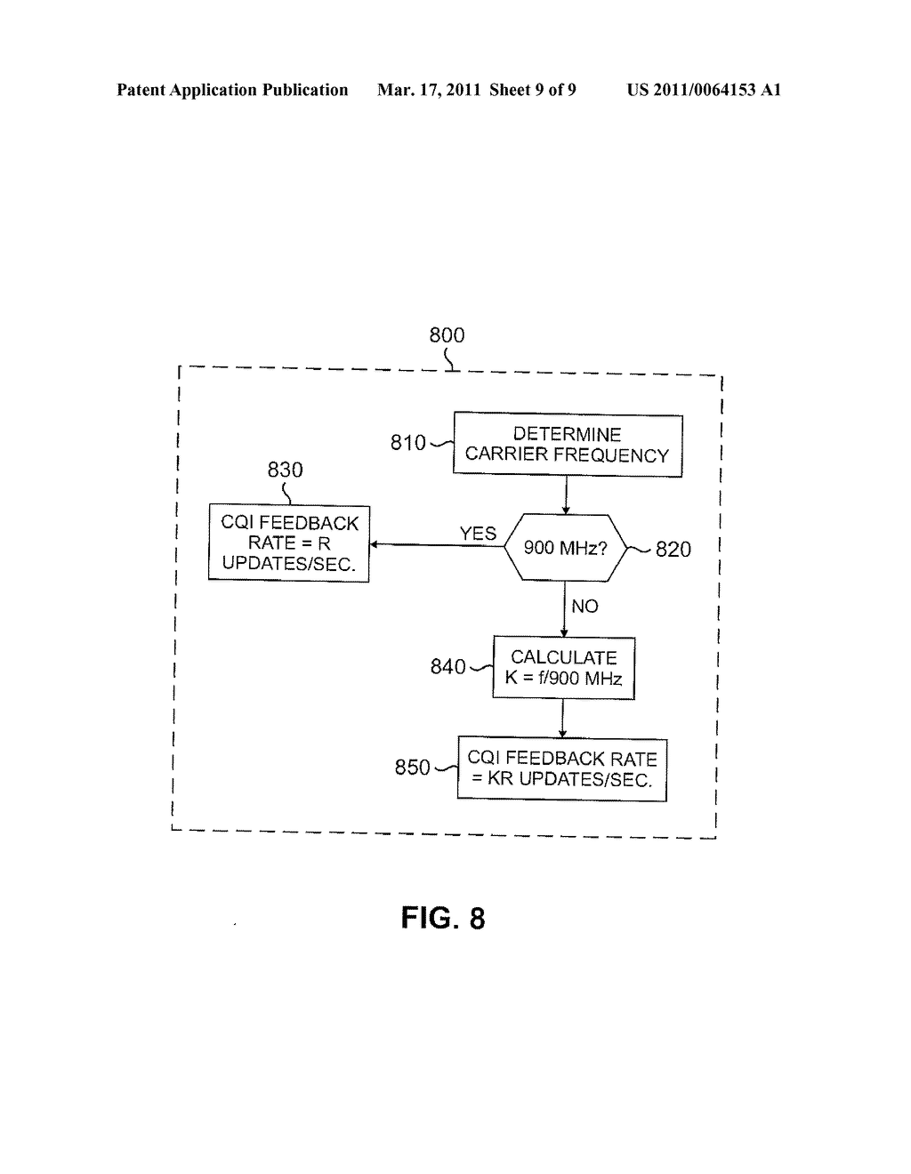 APPARATUS AND METHOD FOR ADAPTIVE CHANNEL QUALITY FEEDBACK IN A MULTICARRIER WIRELESS NETWORK - diagram, schematic, and image 10