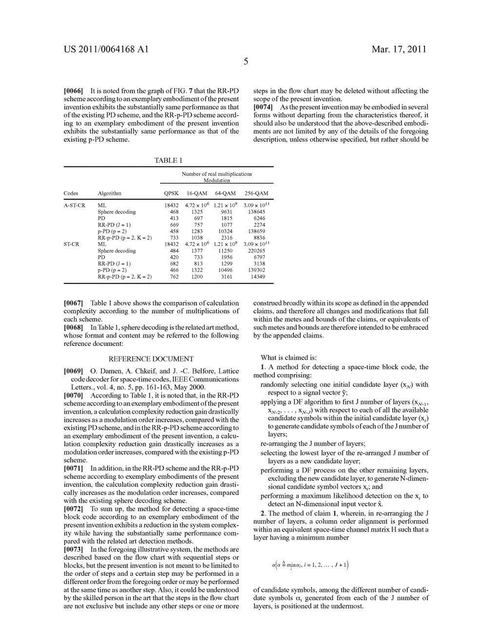METHOD AND APPARATUS FOR DETECTING SPACE-TIME BLOCK CODES - diagram, schematic, and image 13